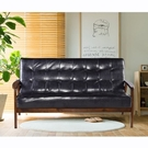 沙發 日式懷舊百年經典復古沙發150cm-三人座皮沙發-破盤價$5999-黑色-強化版組裝好-限量