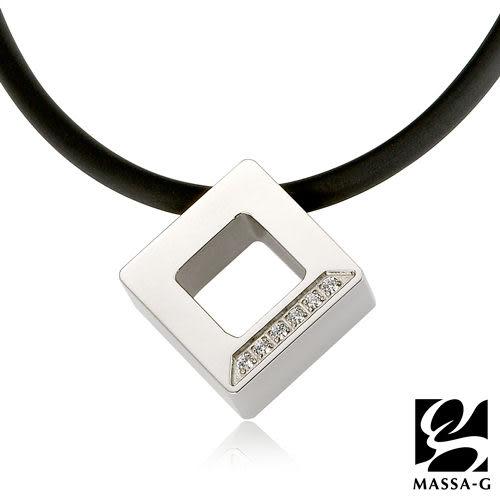 晶點‧瑟蕾娜 方塊晶點 鍺鈦項鍊  MASSA-G LJ 純鈦系列