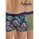 Aubade man-舒棉M-XL平口褲(叢林綠2件組)