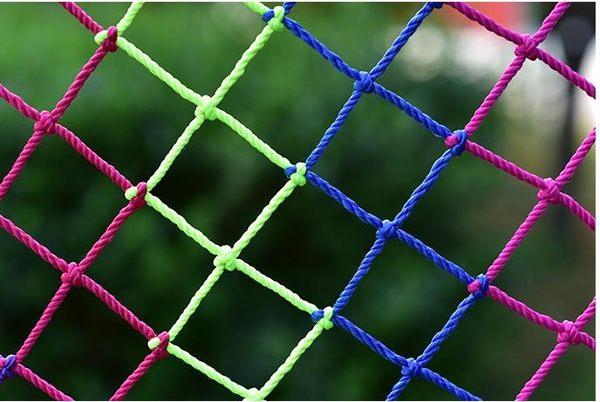 陽臺防護網兒童安全網尼龍網幼兒園彩色裝飾網樓梯防墜落繩網家用森活雜貨