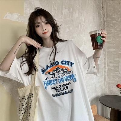 (下殺)彈性棉市場價短袖T恤印花【08SG06628】