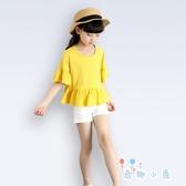 女童純棉短袖T恤喇叭娃娃衫兒童上衣親子裝【奇趣小屋】