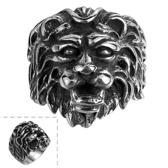 鈦鋼戒指 獅子頭-歐美復古霸氣龐克生日情人節禮物男飾品73le196[時尚巴黎]