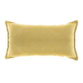HOLA 新素色織紋抱枕30x60cm 芥黃色