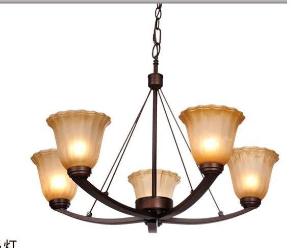 設計師美術精品館歐塞美式吊燈 歐式簡約仿古LED鐵藝燈飾 客廳餐廳臥室燈具8042-5H