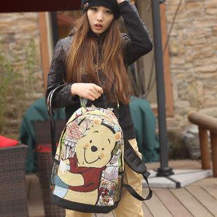 春夏新款可愛熊雙肩包後背包女包 ...現加預...流行線