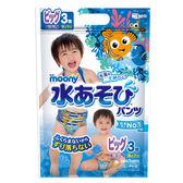 滿意寶寶-玩水褲/游泳尿褲/戲水褲-男-XL號(3片/包)/Moony 大樹