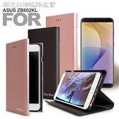 CITY For ASUS ZenFone Max Pro ZB602KL 6吋 潮流尖端紋支架皮套 - 黑 / 玫瑰金