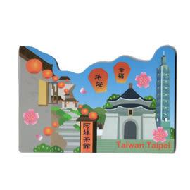 【收藏天地】台灣紀念品*軟膠冰箱貼-台北