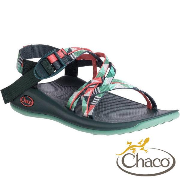 【Chaco 美國】女 ZEW03 X1 冒險旅遊涼鞋- 雙織標準款 HE49『謎樣松綠』健行.沙地.水上活動