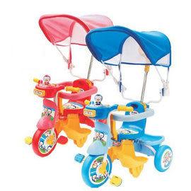 【佳兒園婦幼館】Puku 藍色企鵝 遮陽三輪車