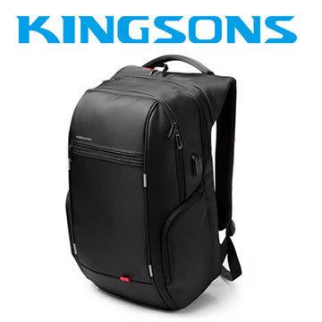 【加也】Kingsons-3140W 17.3吋 USB行動充電 電腦後背包 大容量A款