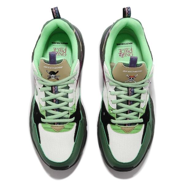Skechers 休閒鞋 STAMINA V2 白 綠 男鞋 航海王 One Piece 索隆 限量 【ACS】 894034-BKMT