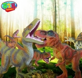 恐龍玩具模型大號仿真塑膠侏羅紀世界恐龍模型擺件霸王龍禮品  雙十二全館免運