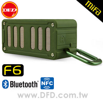 (點我享檔期優惠)MiFa F6無線NFC隨身藍芽MP3喇叭(叢林綠) NFC快速配對超方便!