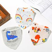 口水巾嬰兒三角巾純棉新生兒童圍嘴圍兜男寶寶女孩1-2歲夏季薄款   夢曼森居家