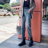 直筒褲牛仔褲女秋季新款高腰顯瘦顯高寬鬆闊腿哈倫直筒蘿卜老爹褲子 伊羅鞋包