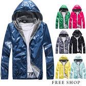 [現貨]【QZZZ50062】 韓式作風潮流風格百搭格紋內裡防風外套連帽外套風衣外套