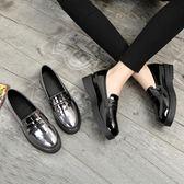 小皮鞋女學生百搭原宿英倫風女鞋軟妹平底粗跟春季單鞋樂福鞋  卡布奇諾