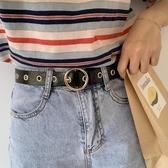 韓國流行新款一整條都是孔褲腰帶學生CHIC裝飾時尚褲帶朋克風潮流