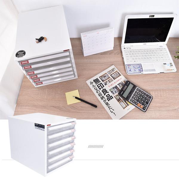 樹德/文件櫃/桌上櫃/資料櫃/收納櫃【A4-106P】 六層桌上櫃 鋅鐵合金10倍防鏽 MIT