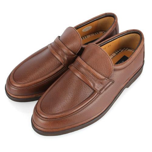 BURBERRY英倫紳士荔枝紋鹿皮樂福鞋(咖啡色)087137
