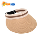 UV100 防曬 抗UV-休閒舒適織帶空心帽