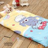 【R.Q.POLO】小羊肖恩 絲棉柔/兒童冬夏兩用鋪棉書包型睡袋(4.5X5尺)
