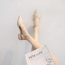 低跟鞋 年新款晚晚風溫柔平底尖頭仙女單鞋百搭低跟款女鞋