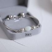 手鏈 小眾設計925純銀手錬女韓版學生簡約ins潮閨蜜送女友轉運珠手飾品 百分百