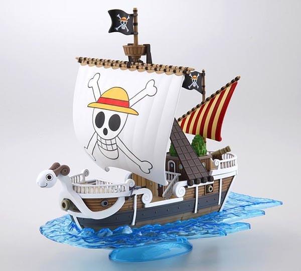 日本正版 海賊王 One Piece 草帽 魯夫 前進梅利號 組裝模型 裝飾 公仔 全長約15公分