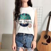 (全館一件免運)DE SHOP~(DW-1788)學生百搭無袖外穿百搭背心短袖T恤