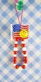 【震撼精品百貨】日本精品百貨-手機吊飾/鎖圈-微笑圖案系列-紅國旗