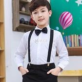 男童白襯衫秋冬季純棉兒童長袖白色襯衣中大童小學生