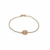 LOUIS VUITTON 路易威登 Blossom BB系列鑲4顆鑽石18K玫瑰金手鍊 Q95412 【BRAND OFF】