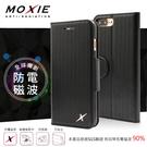 【現貨】Moxie X-Shell iPhone 7 Plus 防電磁波 編織紋真皮手機皮套 / 紳士黑 可插卡 可站立 手機殼