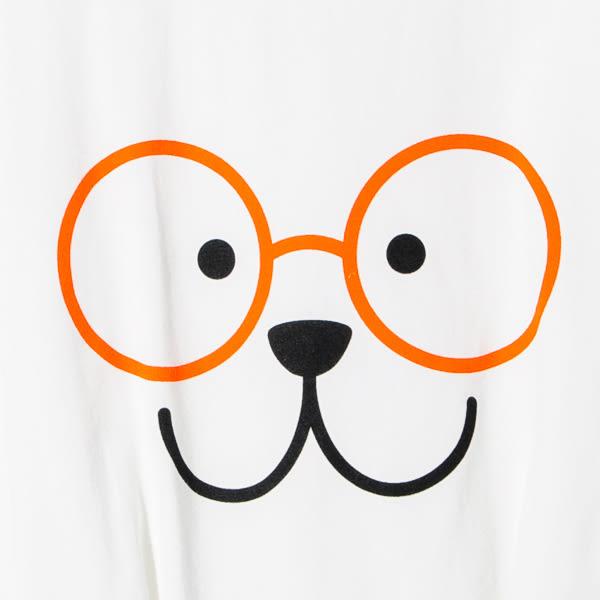 【Dailo】眼鏡熊拼接短版上衣-3色