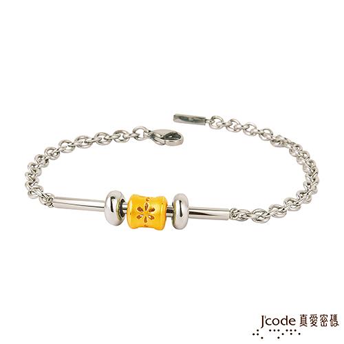 J'code真愛密碼-煙花 黃金/白鋼女手鍊