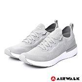 【AIRWALK】電光石火編織運動鞋-淺灰-男款