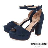 Tino Bellini 自信氣勢前防水台高跟涼鞋 _藍 B73262  2017SS
