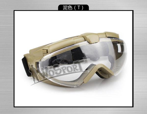 【狐狸跑跑】真人CS軍迷眼鏡可靠抗沖擊超帥款輕盈透氣護目鏡