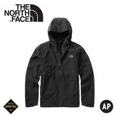 【The North Face 男 GORE-TEX單件式連帽防水外套《黑》】49B8/衝鋒衣/防水外套