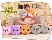 毛絨玩具抱枕被子兩用多功能靠枕個性可愛汽車空調被毯子午睡枕頭三合一LX伊蘿精品