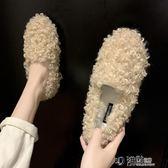 網紅同款豆豆鞋女韓版加絨棉瓢鞋女鞋秋冬季外穿一腳蹬毛毛鞋 沸點奇跡