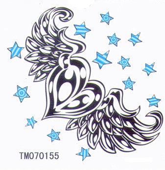 薇嘉雅 愛心 超炫圖案紋身貼紙 TM70155