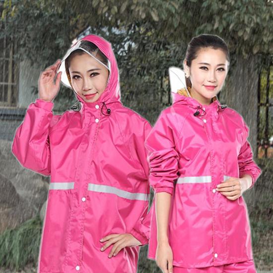 兩件式雨衣 反光 透氣 全身雨衣 防風 加厚 摩托車雨衣 雨衣 兩件式雨衣套裝【Z057】 米菈生活館