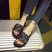 新款夏季高跟鬆糕時尚厚底坡跟涼拖鞋沙灘鞋防滑拖鞋女夏外穿 【販衣小築】