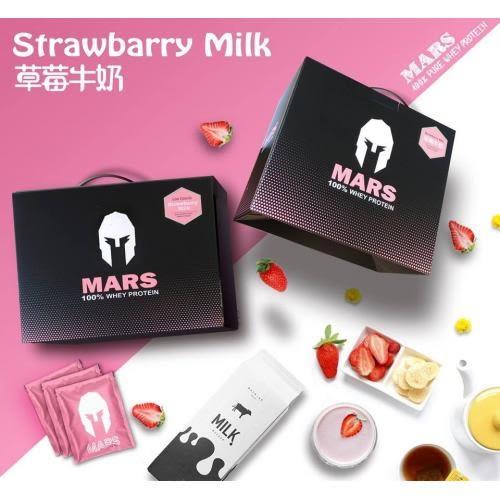 戰神MARS低脂乳清 乳清蛋白 分離式乳清蛋白 草莓牛奶 口味