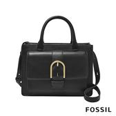 FOSSIL WILEY 真皮復古美型手提側背包-黑色 ZB7958001