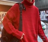 高領毛衣男 秋冬季ins港風男士厚款高領毛衣正韓寬松潮流情侶學生 十點一刻